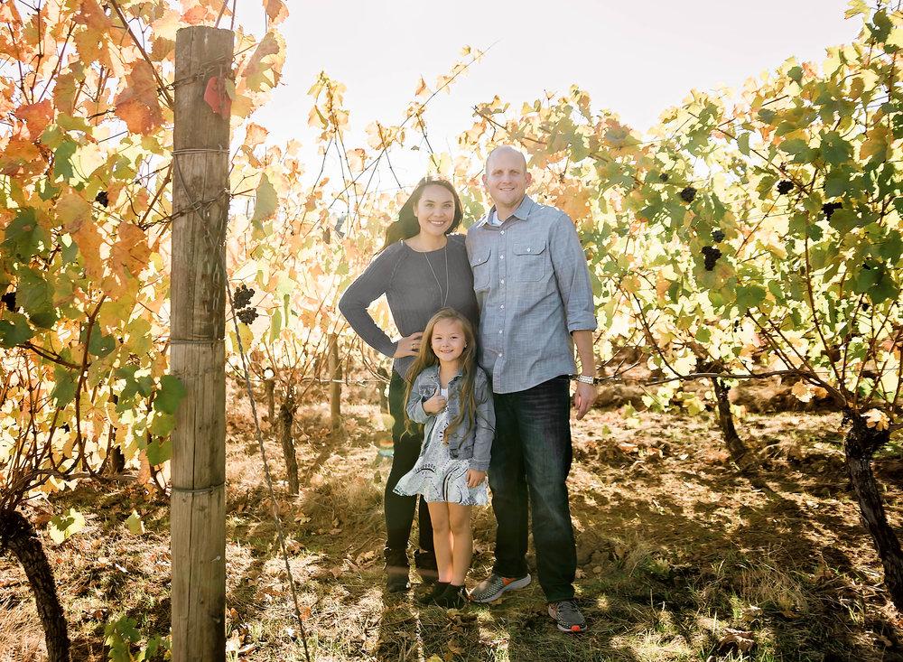 Fall Family Portraits Vineyard