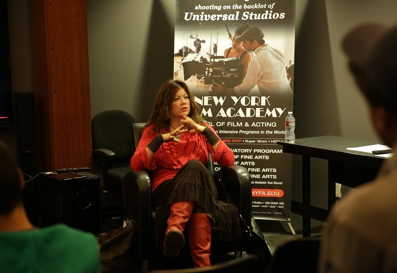 Speaking at the New York Film Academy about career management in show business