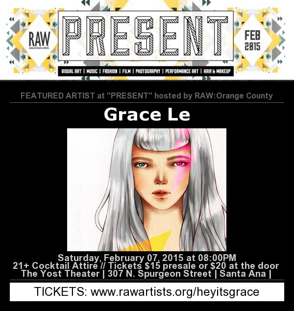 I'm a featured artist at PRESENT hosted by RAW Orange County.  Click through to purchase tickets!