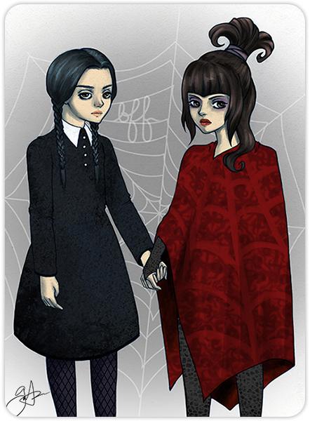 Goth BFFs [ Wednesday + Lydia ]