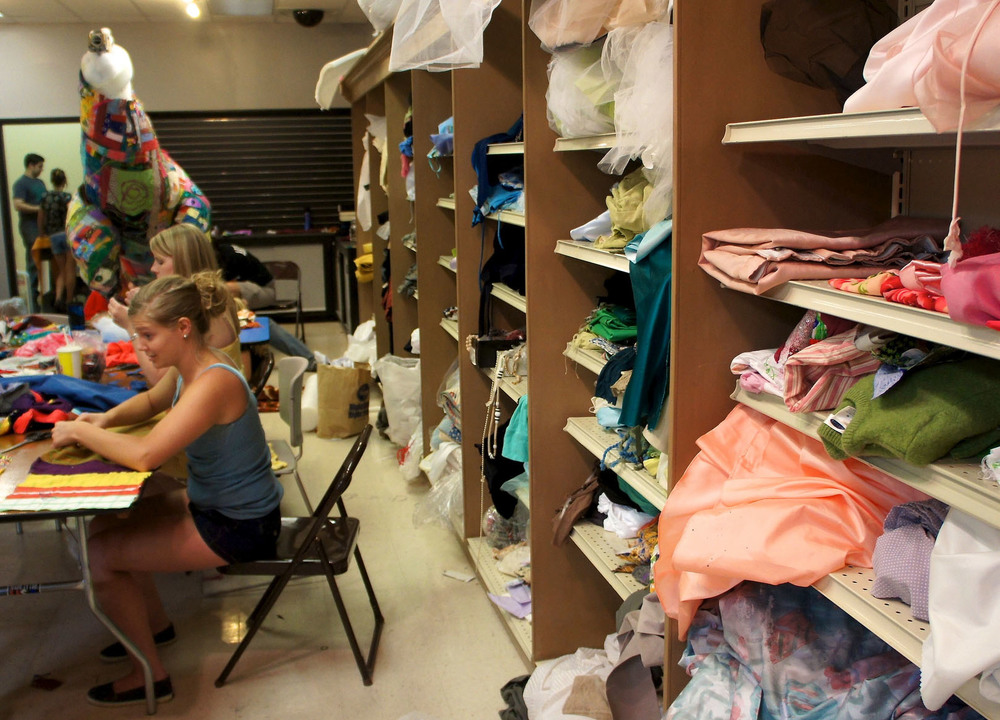 The community donated fabric, prom dresses, foam, odds and ends....and lots of time and talent!
