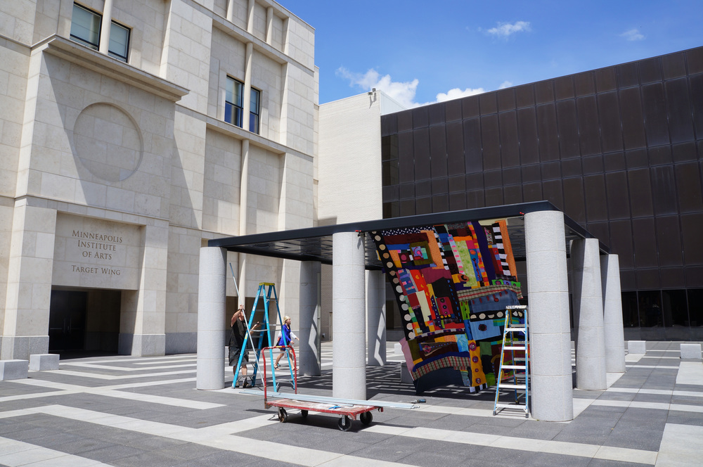 Constructing the Palace of Wonder at the Minneapolis Institute of Art.