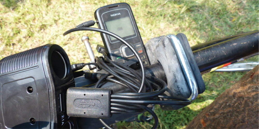 Cell Phone Charging in Bwera, Uganda.