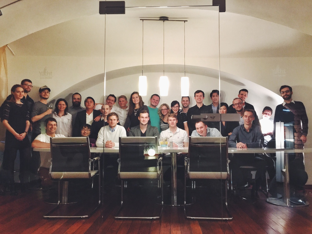Večeře s našimi japonskými partnery a kolegy z pražské kanceláře.