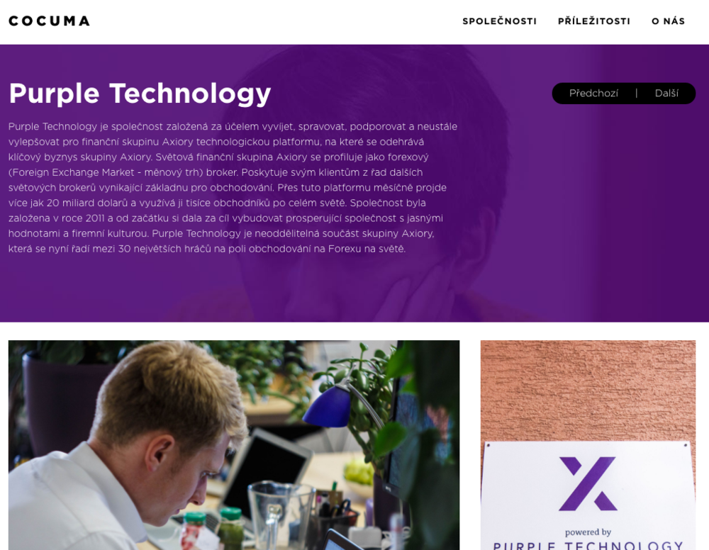 COCUMA - Purple Technology profile