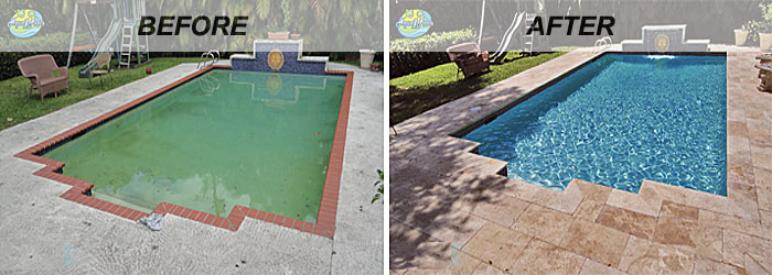Pool Makeovers Before Amp After Orlando Pool Leak