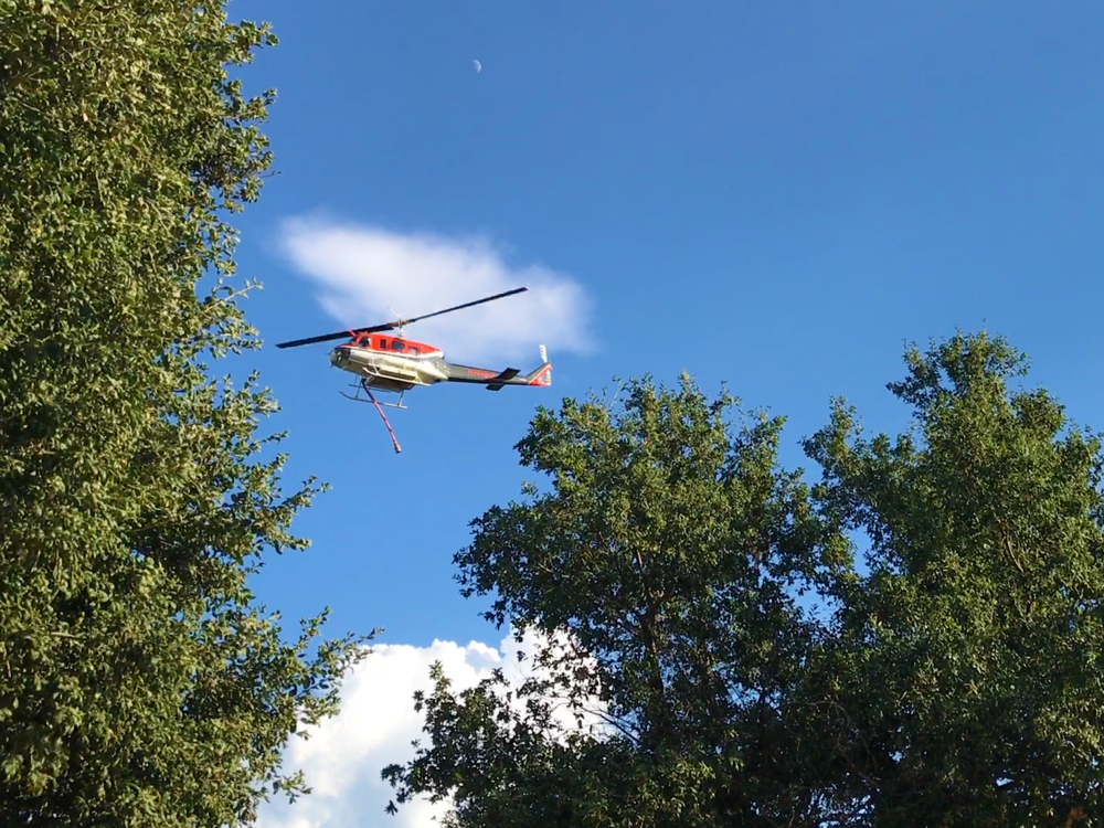 Calfire Helicopter Flyover During 2018 South Grade Fire
