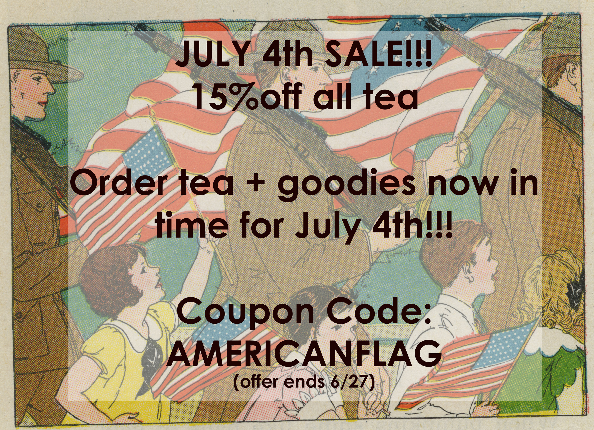 american flag tea sale order in time for july 4th madame