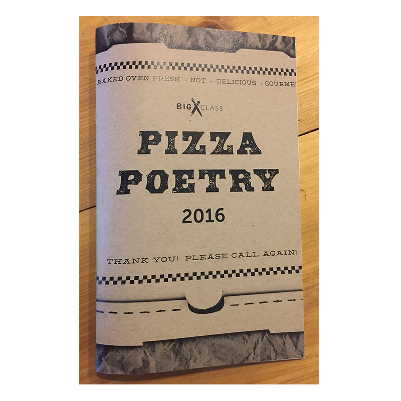 Inside this book is a stellar selection of Pizza Poems from 2016, plus photographs, quotes, and writing prompts that highlight the wonderful people behind The Pizza Poetry Project. The Big Class Youth Advisory Council chose 19 standout poems out of over 515 entries to become the Pizza Poet Laureates. The Pizza Poetry Project celebrates National Poetry Month and encourages youth voices by publishing poems by New Orleans' young writers on pizza boxes.