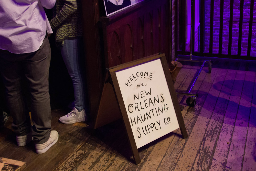 The pop-up New Orleans Haunting Supply Co. and special silent auction - purveyed goods to the ghostly denizens of the Crescent City throughout the evening.