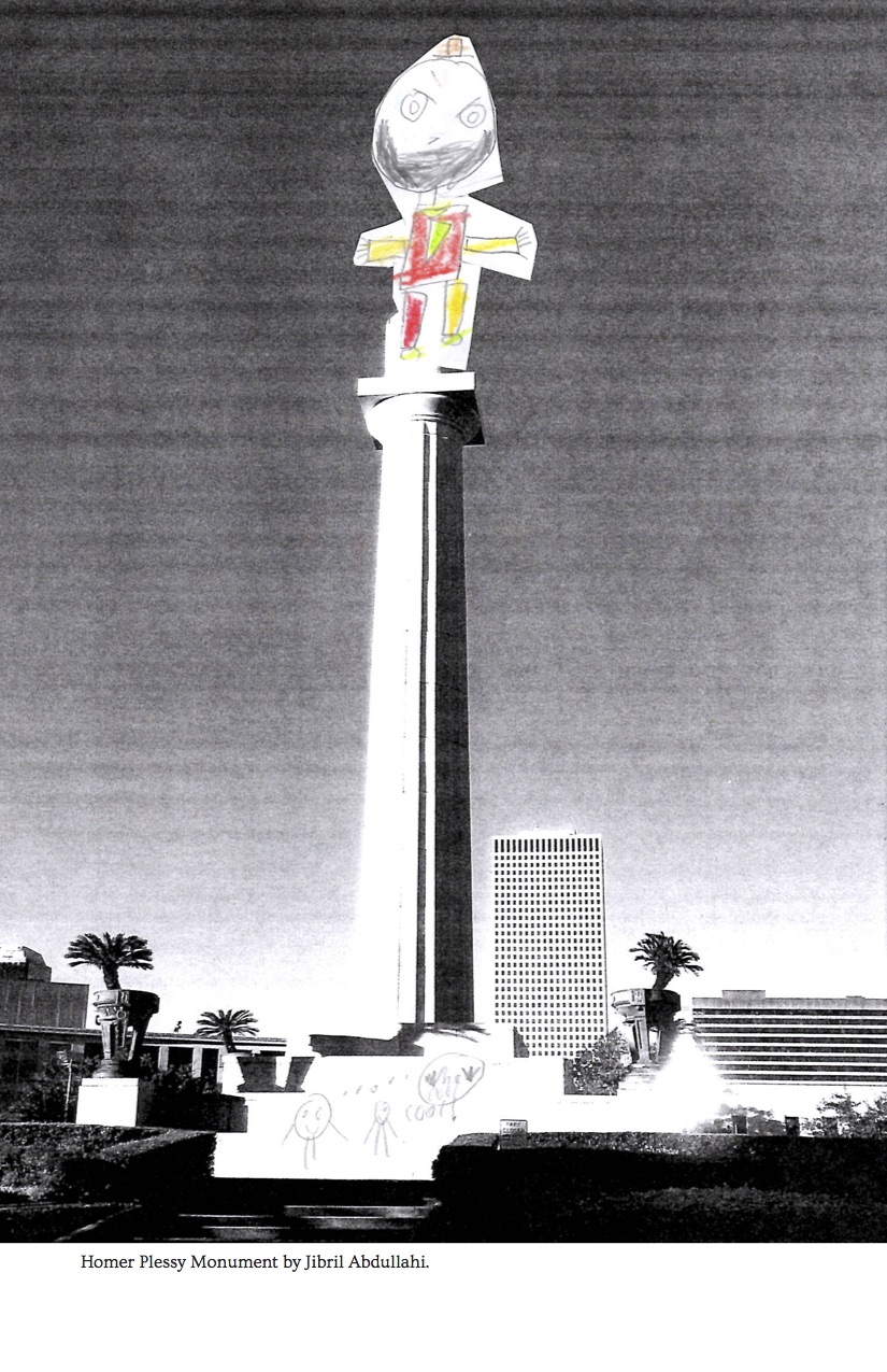 Homer Plessy monument by Jibril -