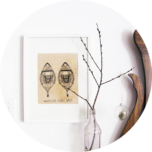 """This """"Walk With Me"""" snowshoe print is the feature art in our entry here at Silverwood."""