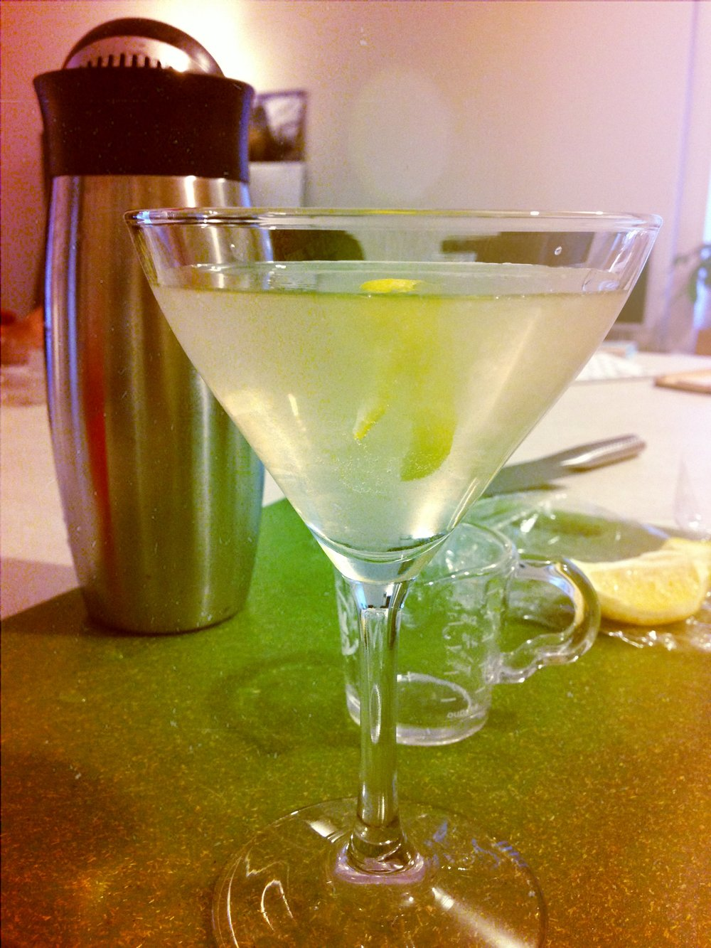 Classic Martini with lemon twist