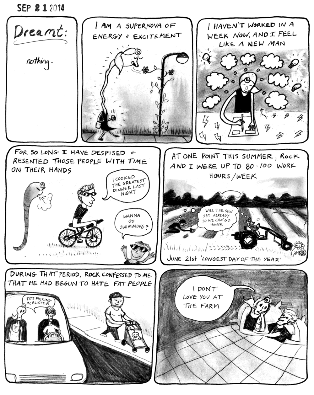 FARMING Diary comic anniversary - September 21, 2014 this farm season has been a lot easier Almanac 2015