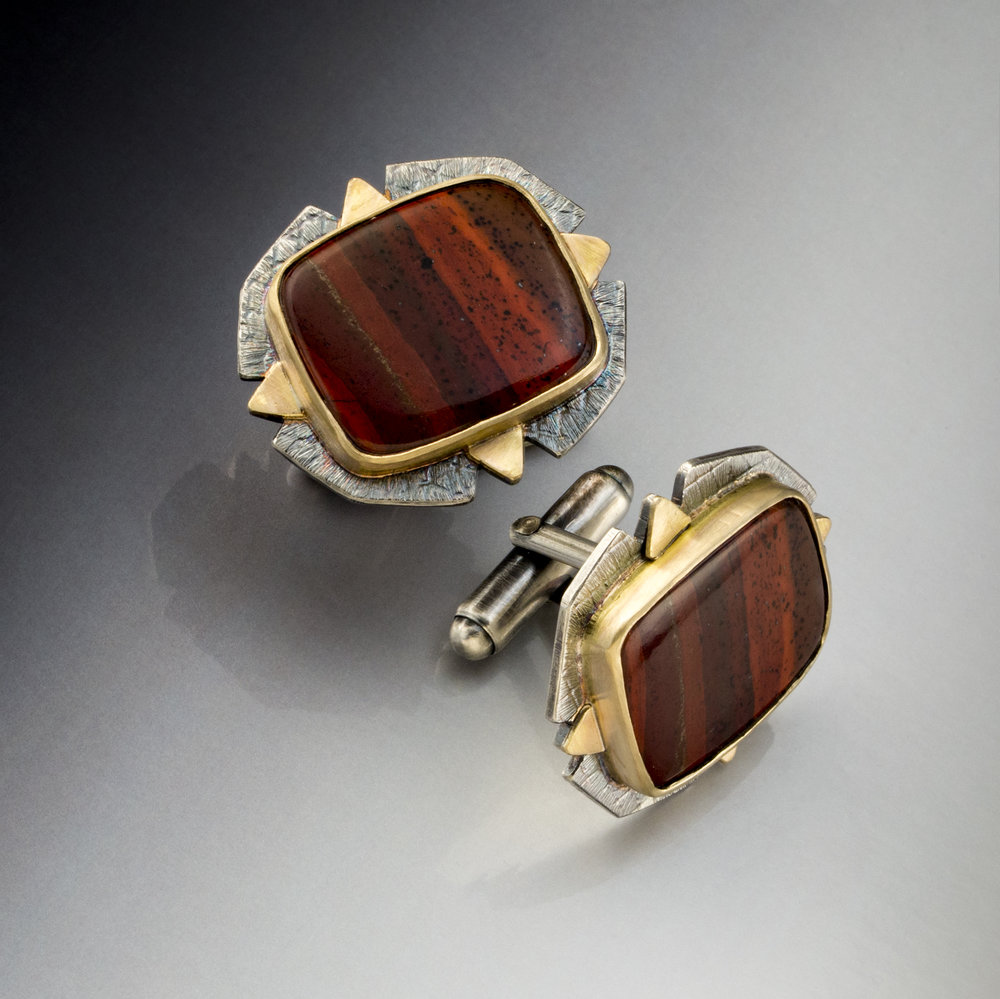 baded red jasper cufflinks.jpg