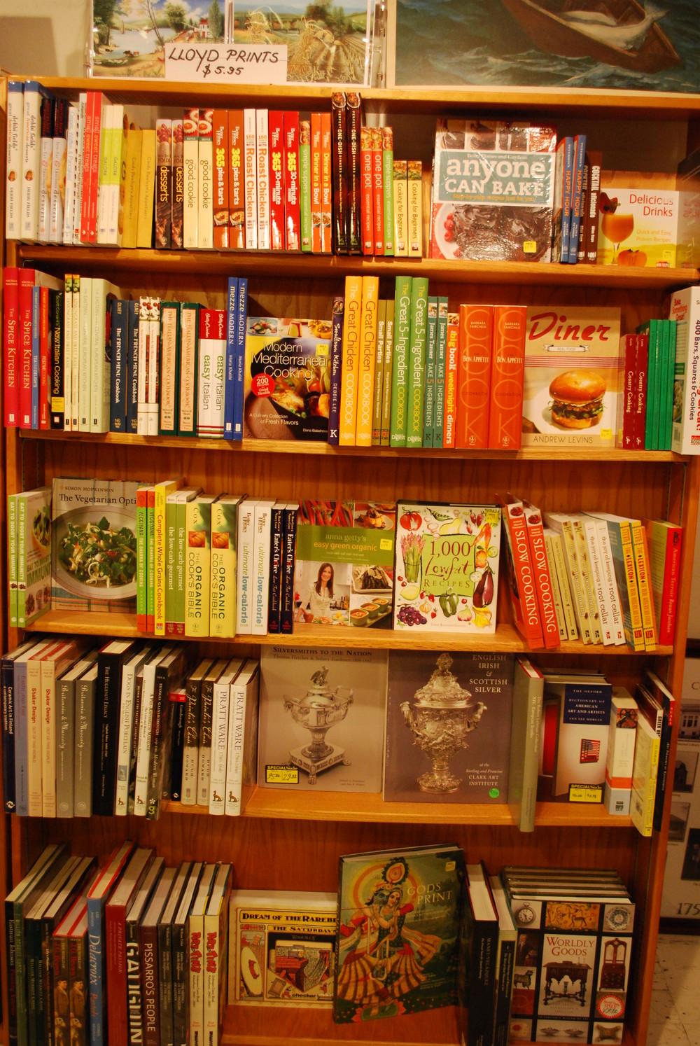 sale cookbooks and art