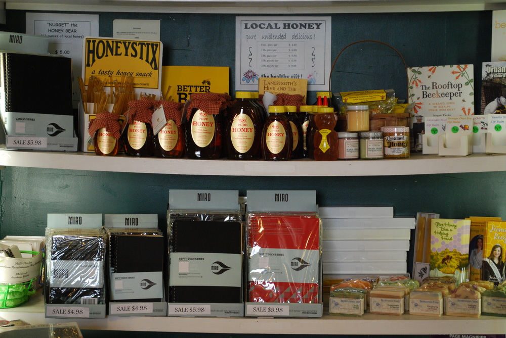 honey products and sale notebooks