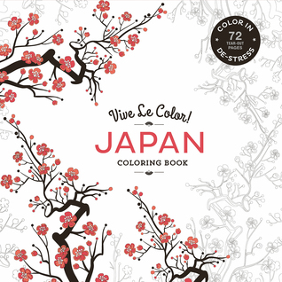 Vive Le Color Japan Adult Coloring Book In De Stress 72 Tear Out Pages