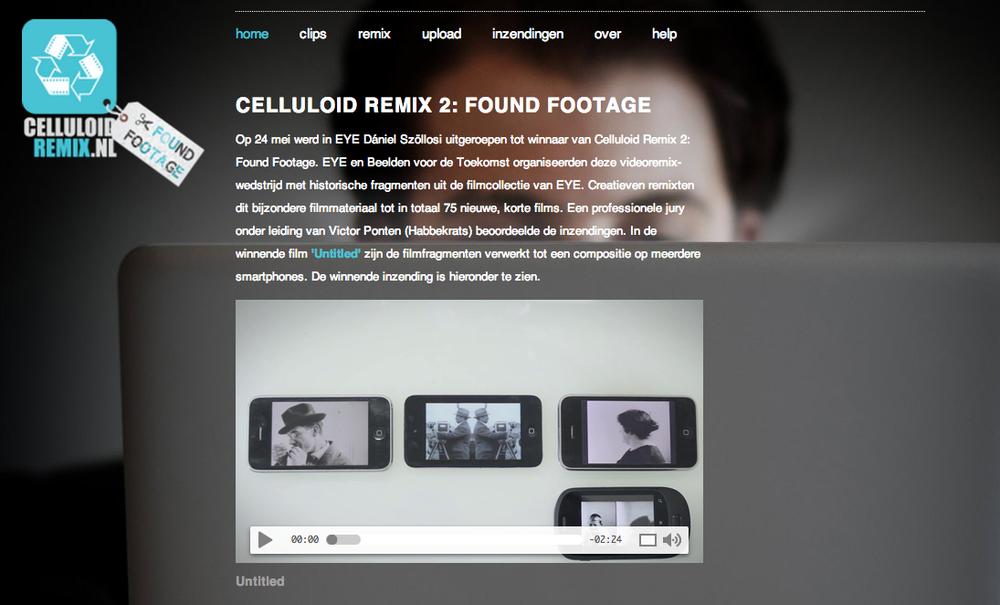De website van Celluloid Remix 2: Found Footage
