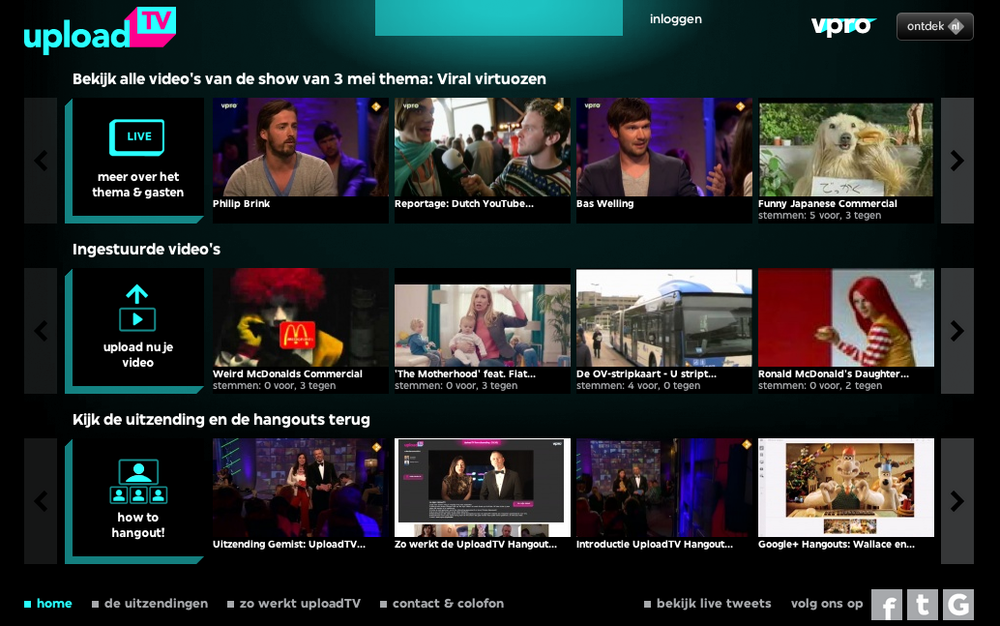 Website van UploadTV