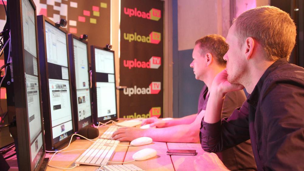 Het 'control centre' van UploadTV