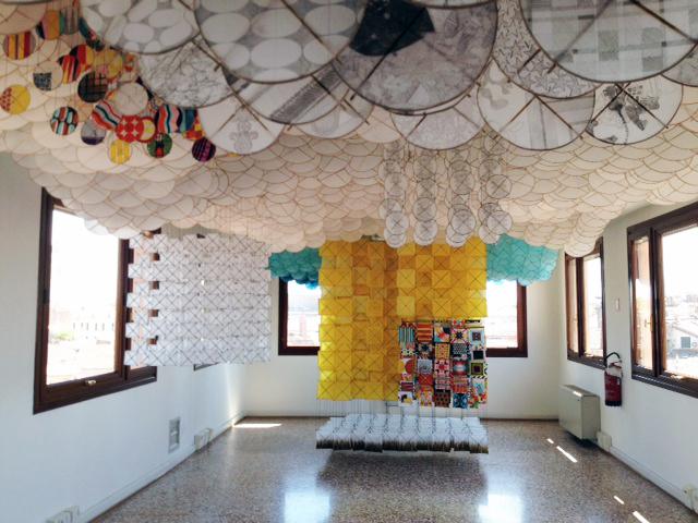 Jacob Hashimoto installation