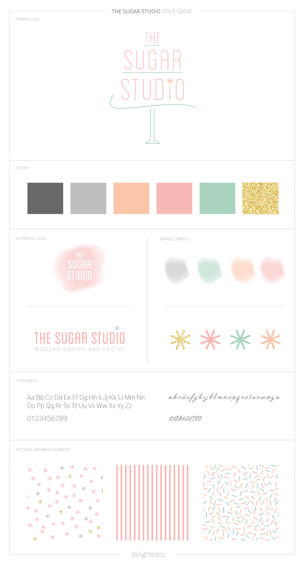 The Sugar Studio Brand Style Guide by DelightedCo.