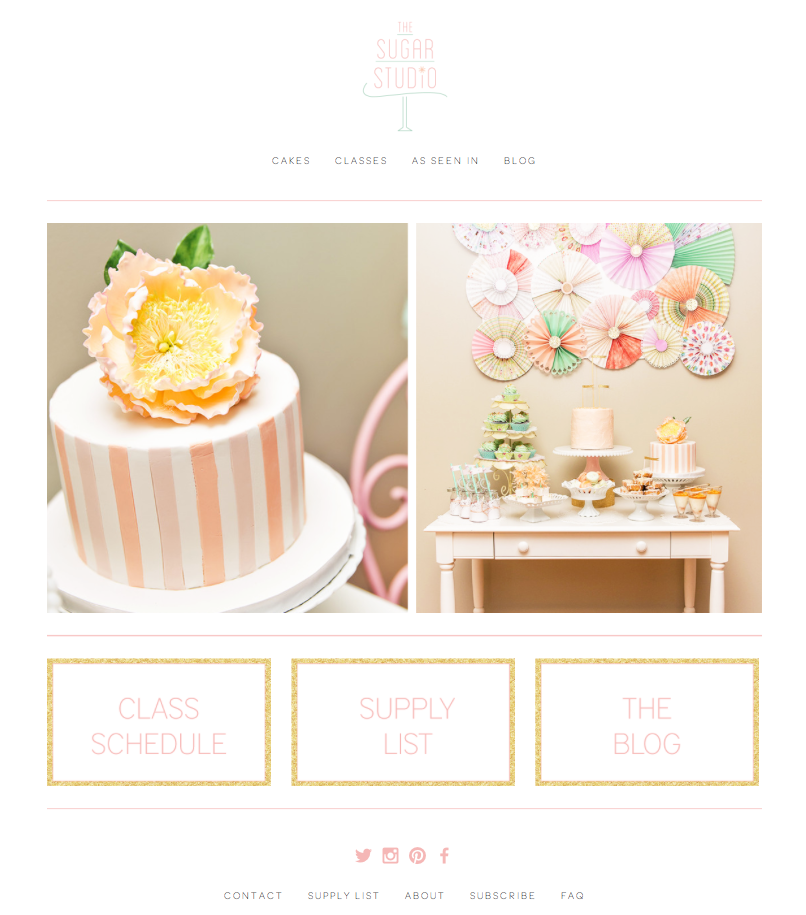 The  Sugar Studio Web Design by DelightedCo.