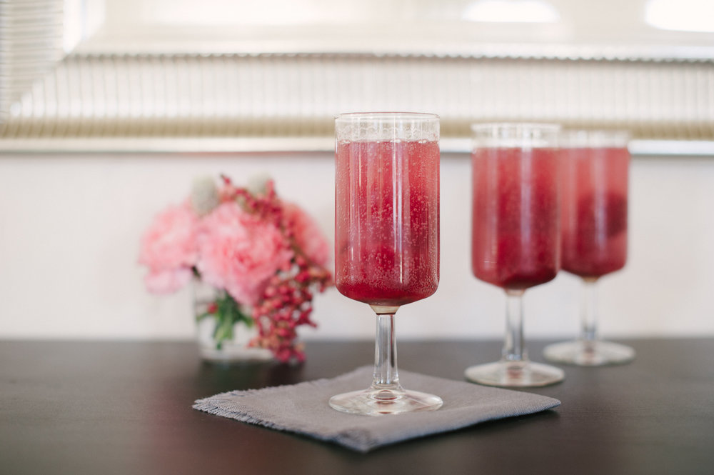 Two Ingredient Raspberry Fizz Drink - Delighted Magazine | Photo by Pictilio