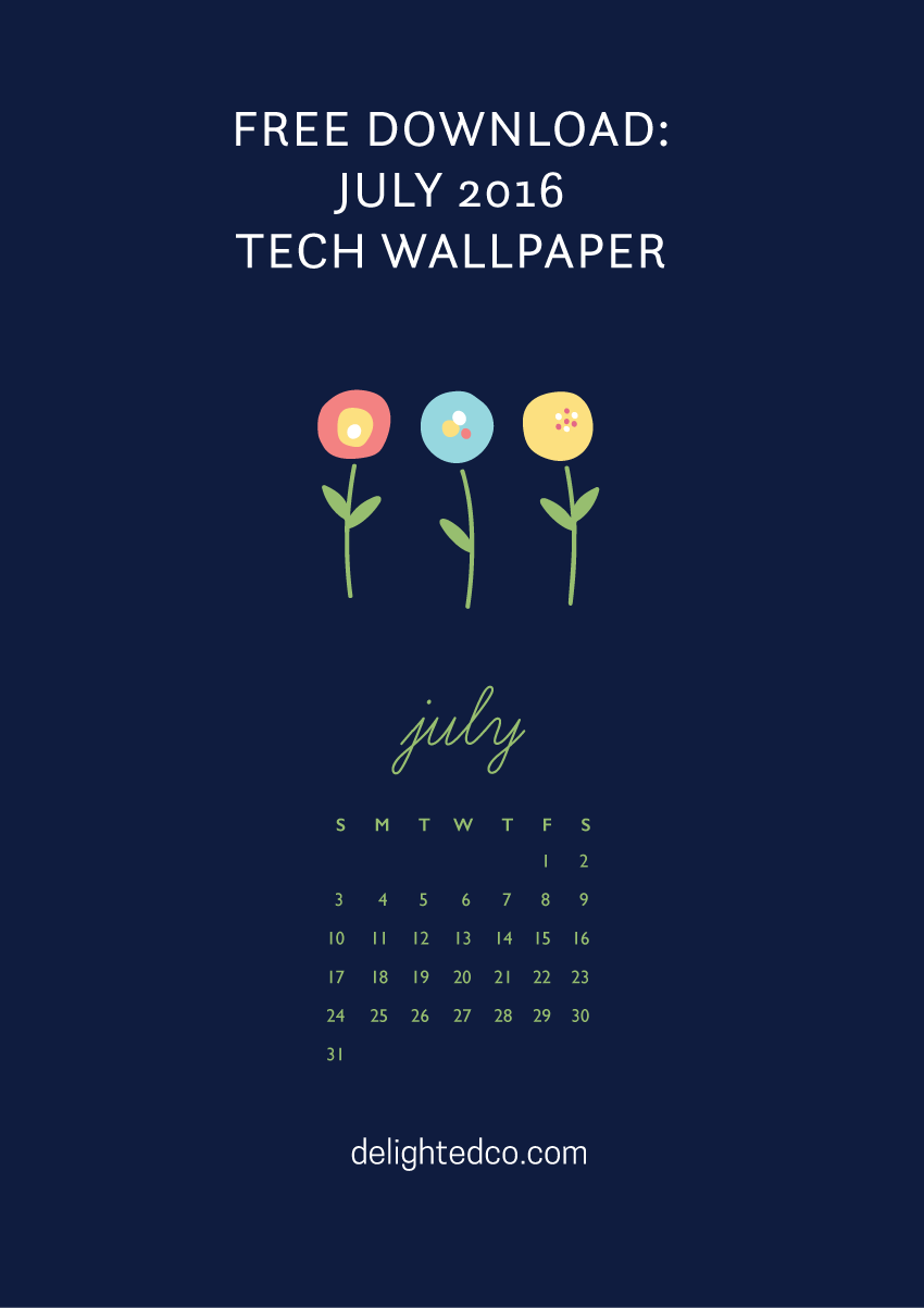 Download the July 2016 Tech Wallpaper freebie from Amanda Gomes of Delighted Creative Co.