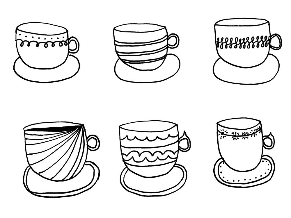 Amanda Gomes Teacup Illustration - www.delightedco.com