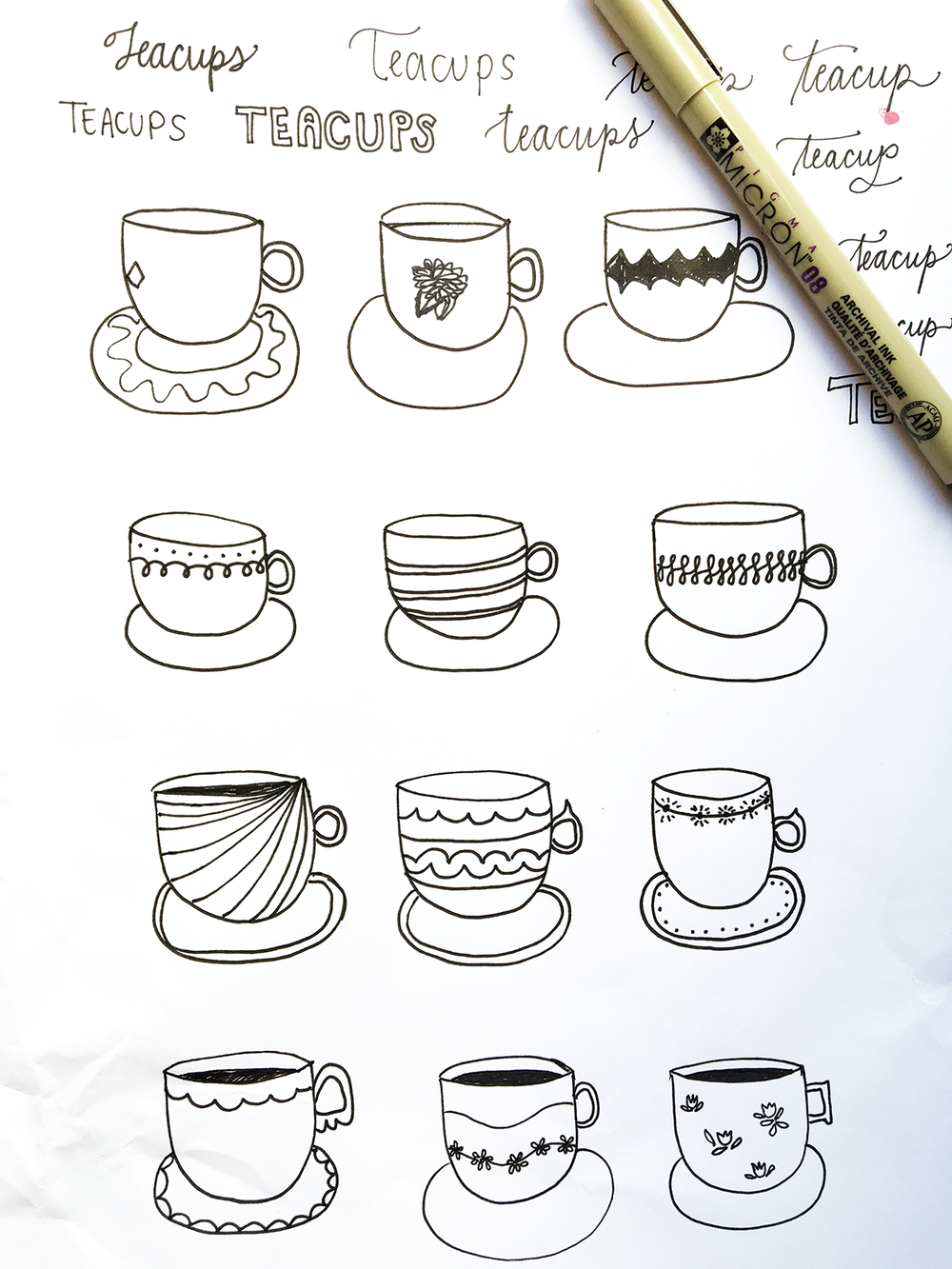 Amanda Gomes Teacup Illustrations • www.delightedco.com