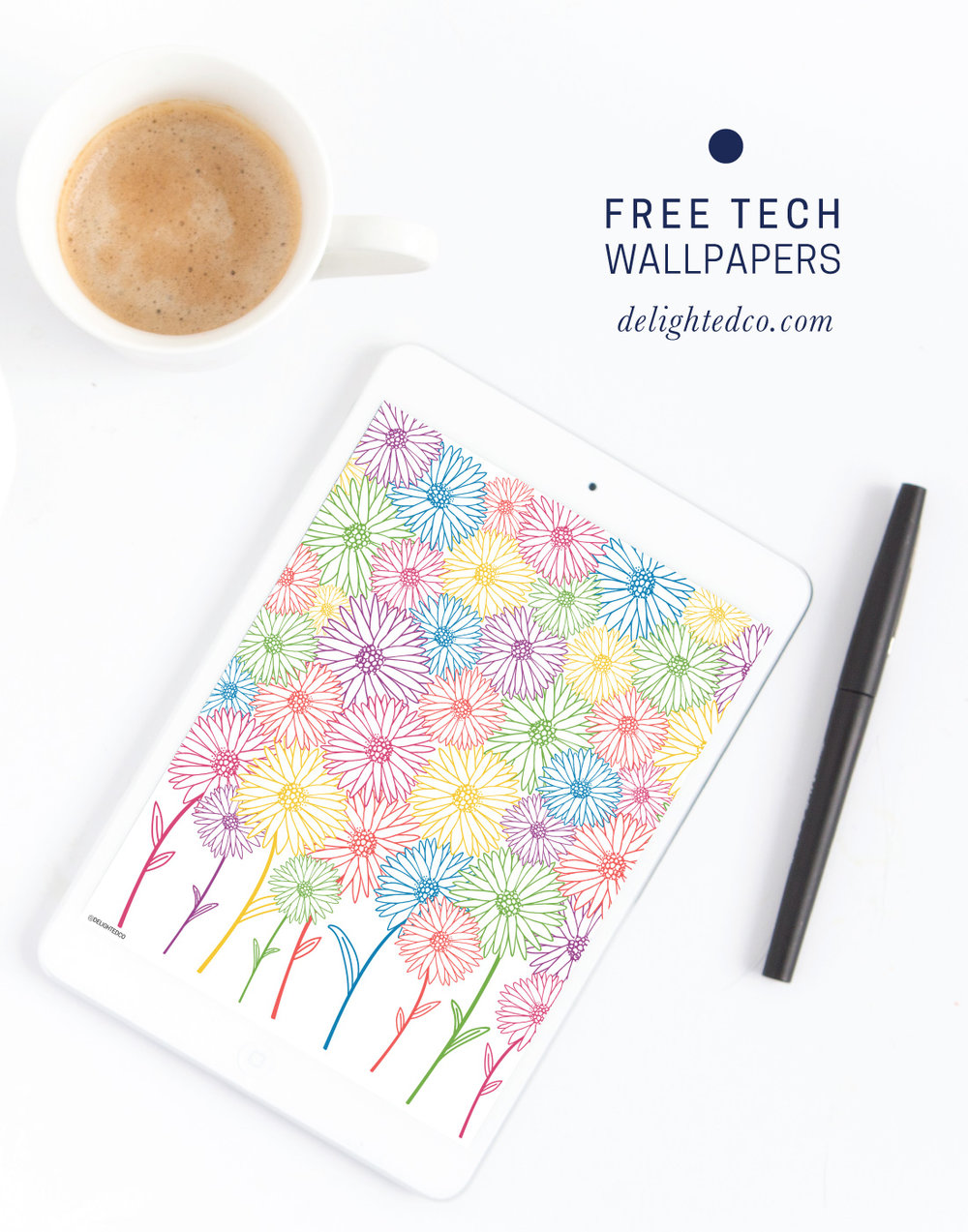 Free Tech Wallpaper by Amanda Gomes of Delighted Creative Co. • delightedco.com