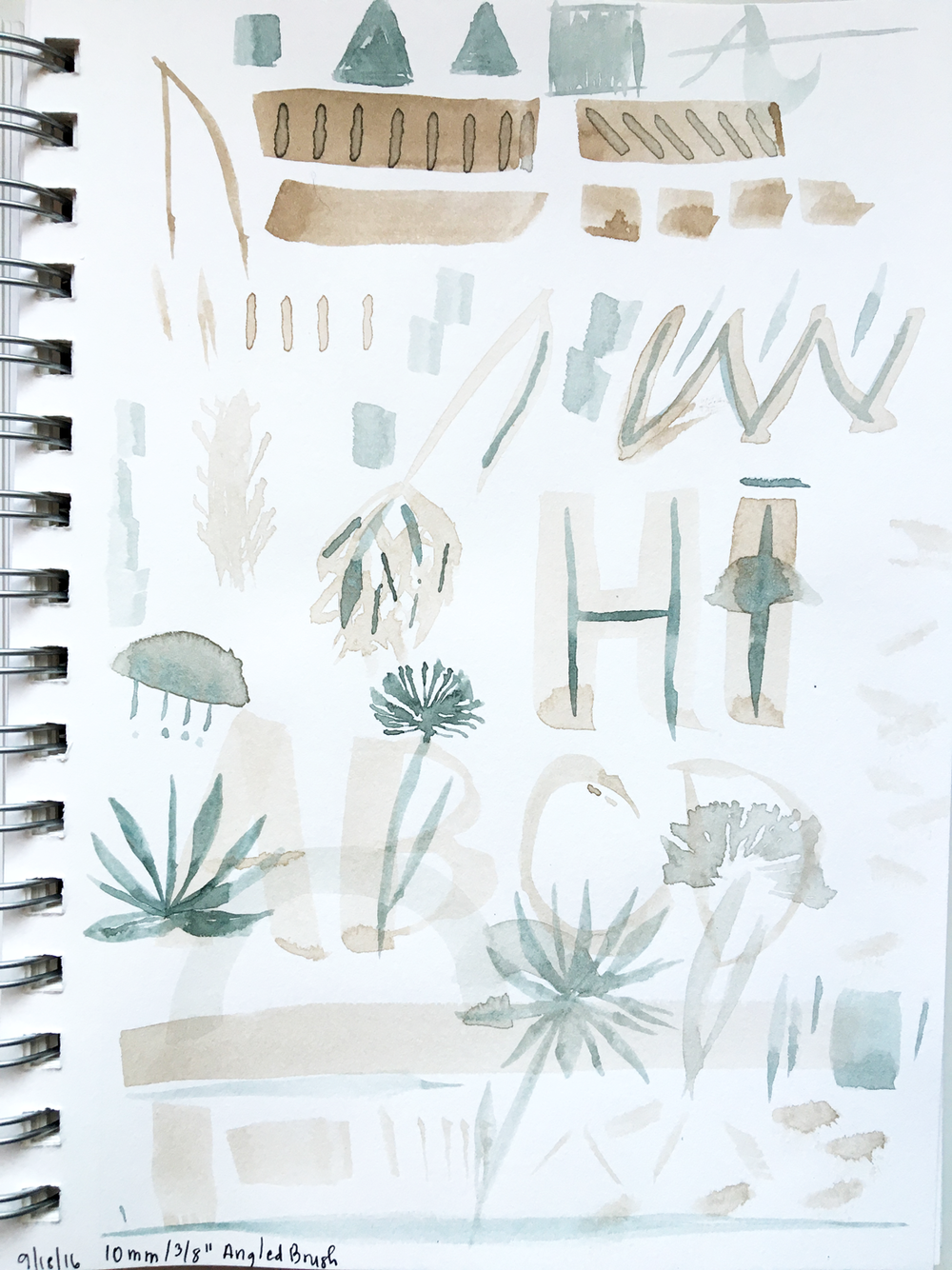 Working with an Angled Watercolor Brush • Delighted Creative Co