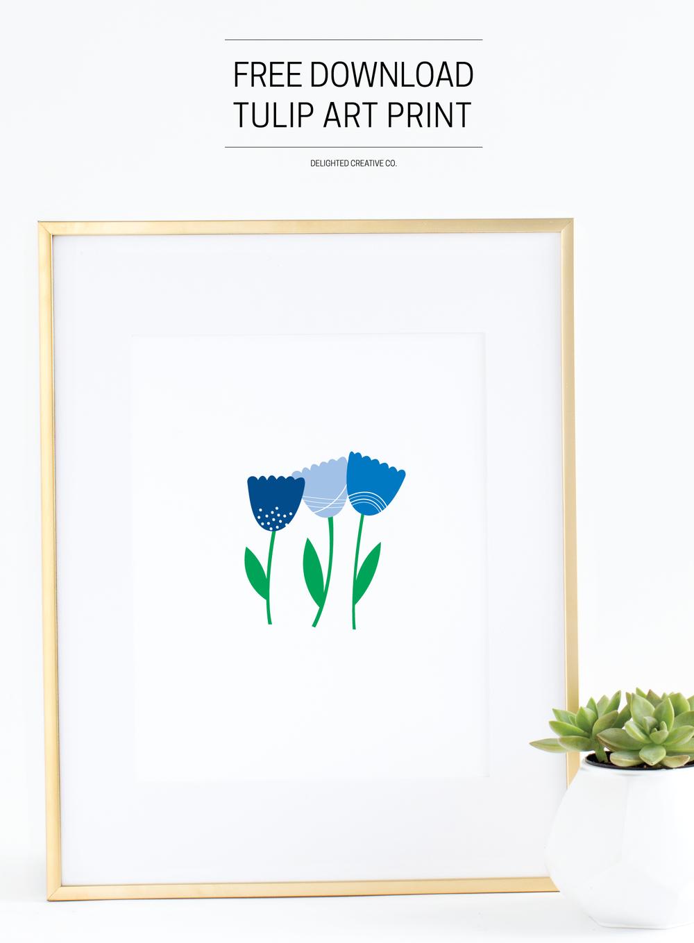 Free Download: Tulip Art Print | Amanda Gomes •Delighted Creative Co.