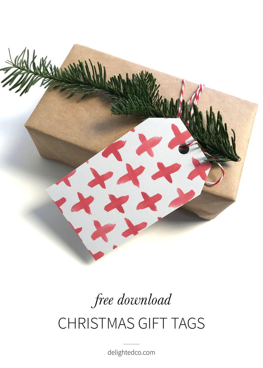 Free holiday Christmas gift tag download || delightedco.com