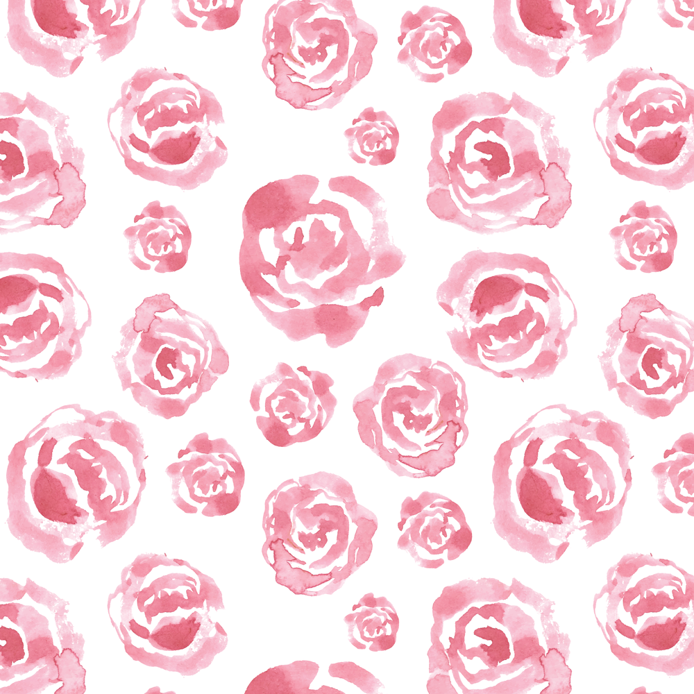 Pink Rose Pattern by Amanda Gomes | delightedco.com