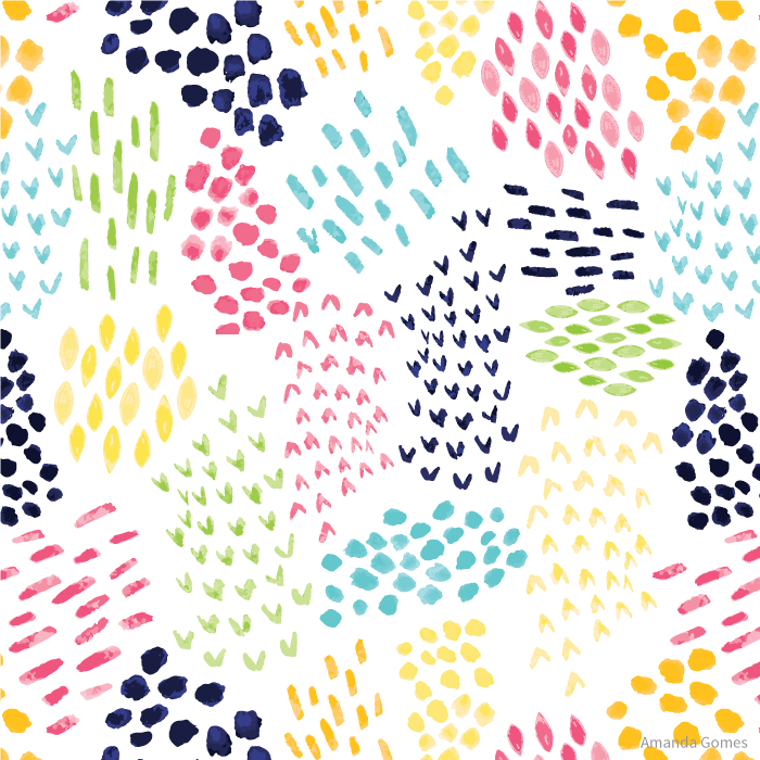 Messy Swashes Pattern with White Background by Amanda Gomes | delightedco.com