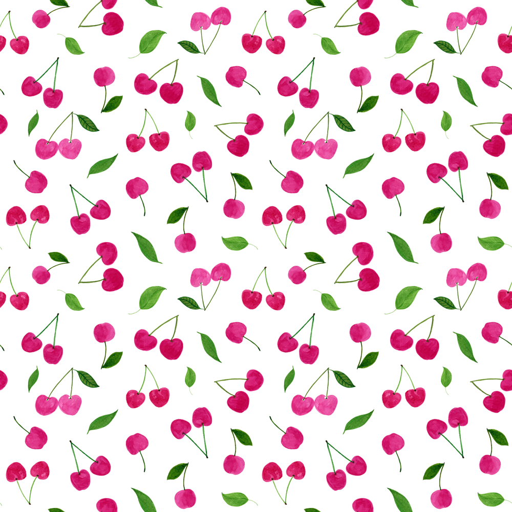 Cherry Pattern • design by Amanda Gomes | Delighted Creative Co.