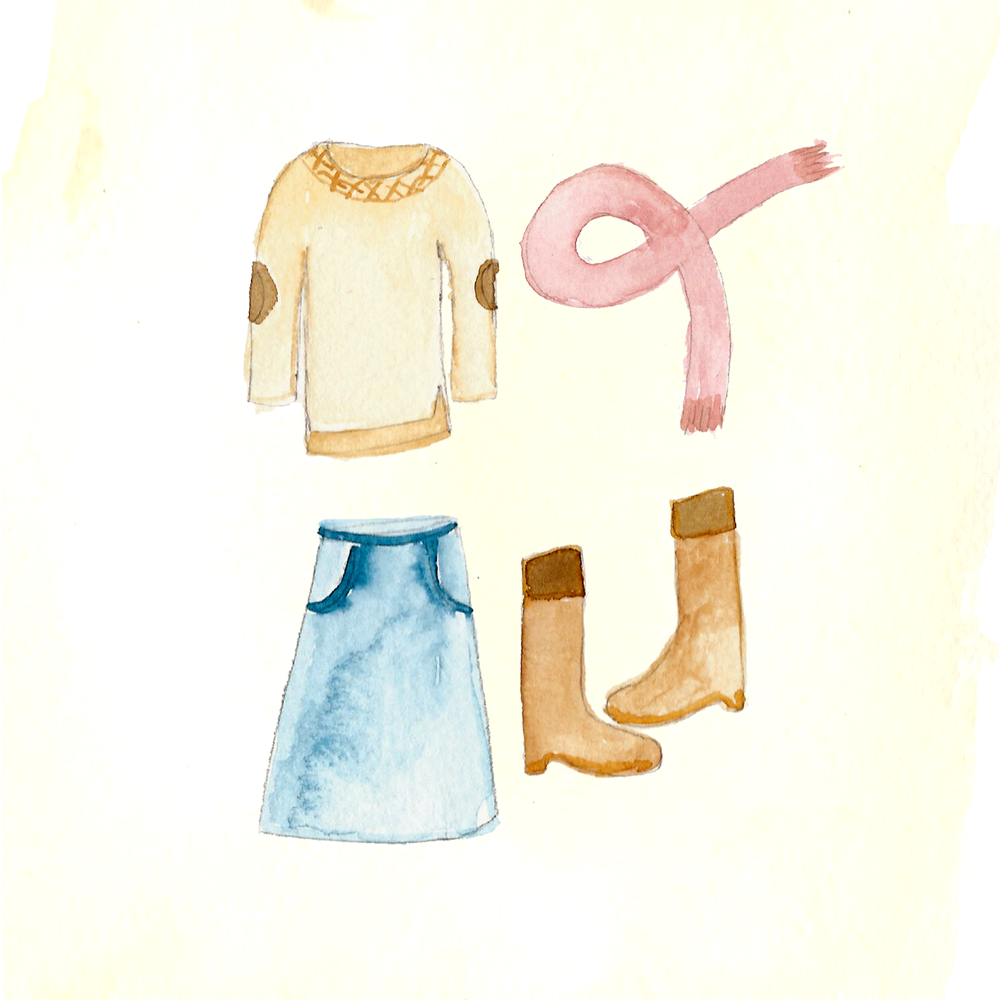 Fall Outfit Illustration by Amanda Gomes • delightedco.com