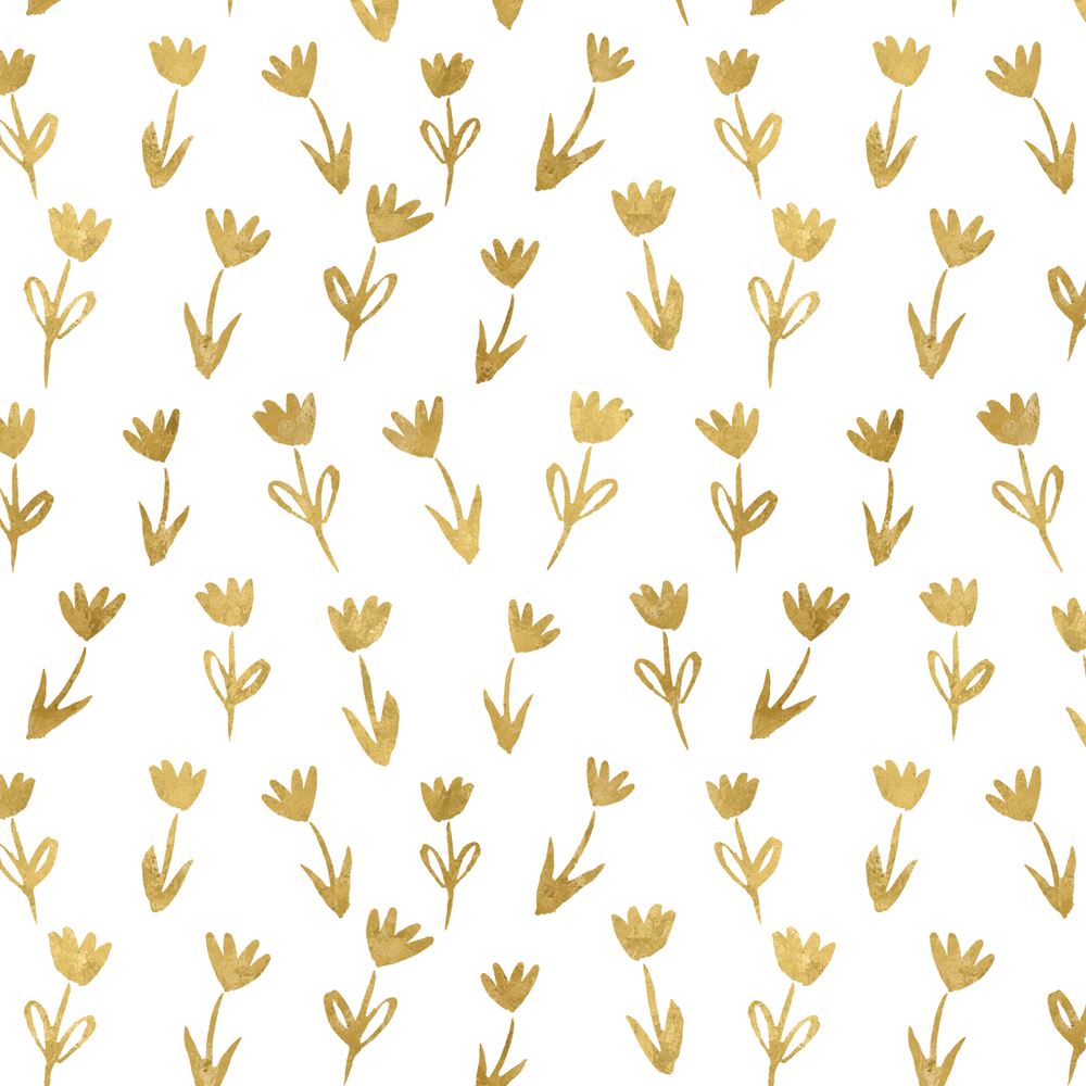 Mini gold floral pattern by Amanda Gomes • delightedco.com