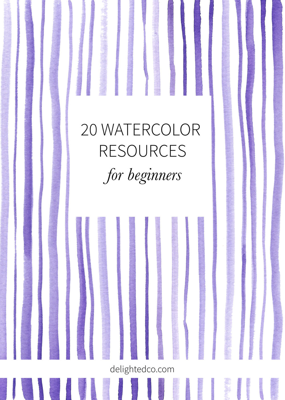 20 Watercolor + Art Resources for Beginners