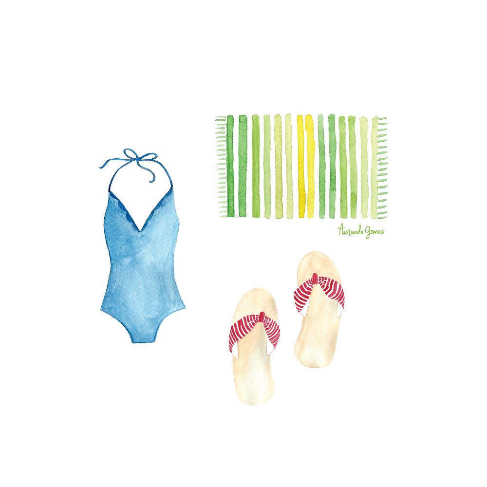 Beach Gear Illustration by Amanda Gomes • Delighted Creative Co.