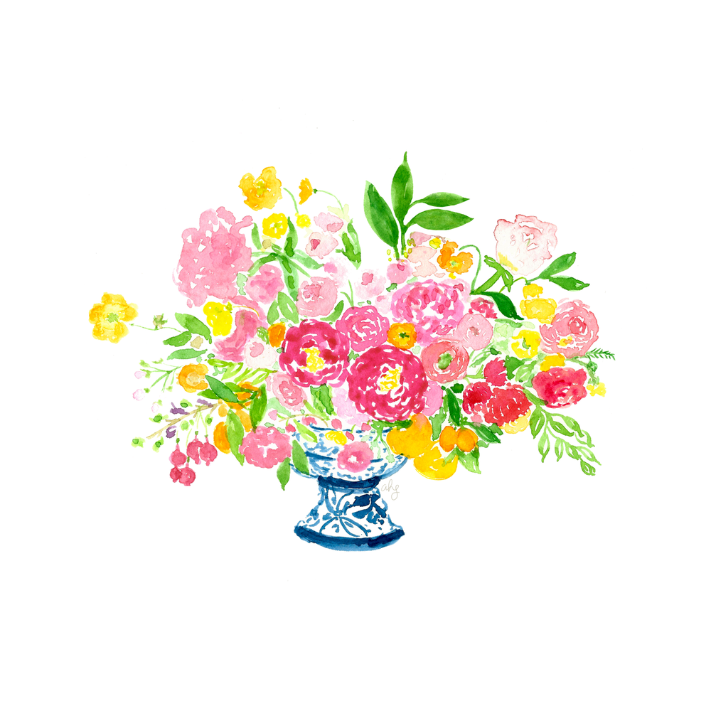 Tulipina Floral Arrangement Illustration by Amanda Gomes • Delighted Creative Co.