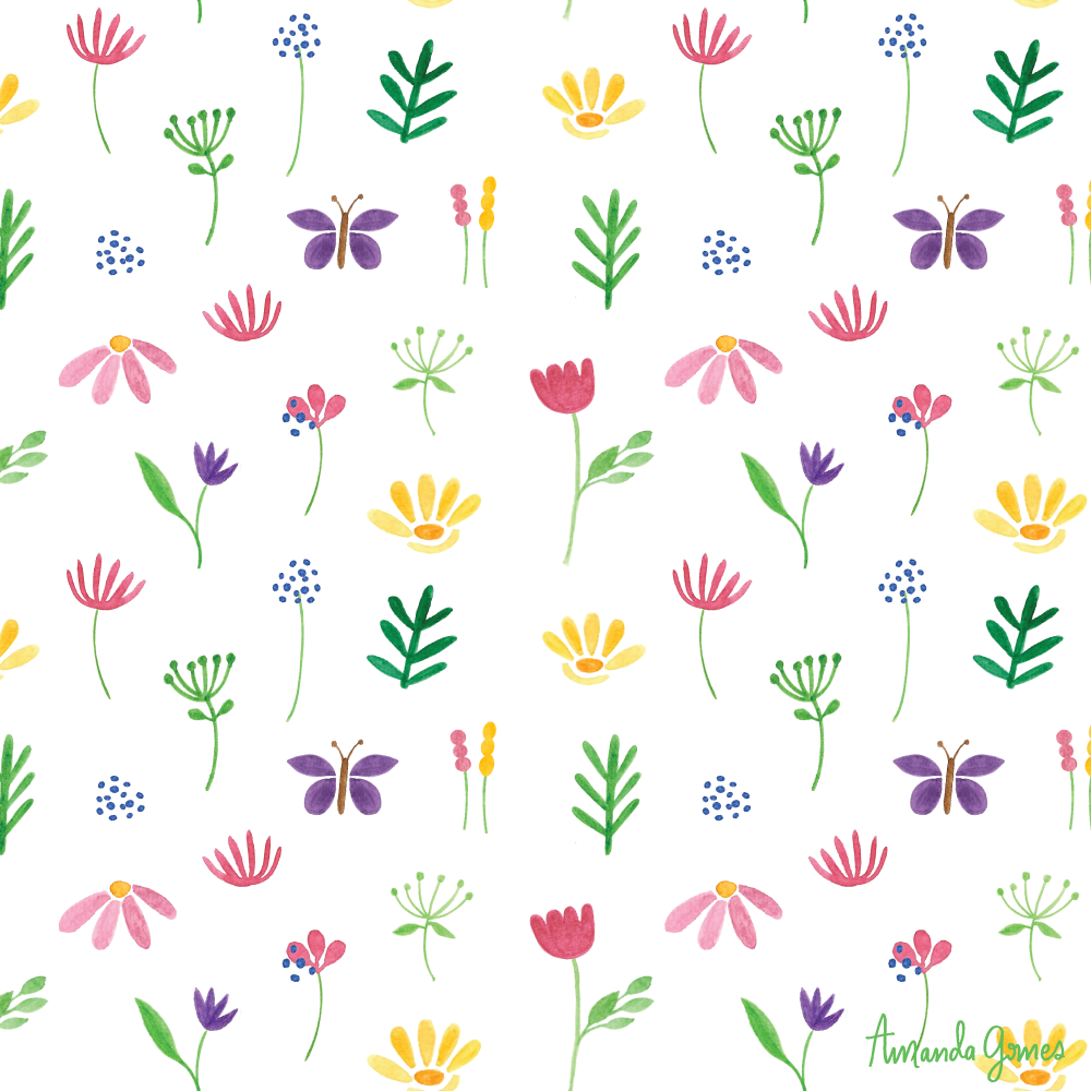 Flowers •Surface Pattern ©Amanda Gomes • delightedco.com