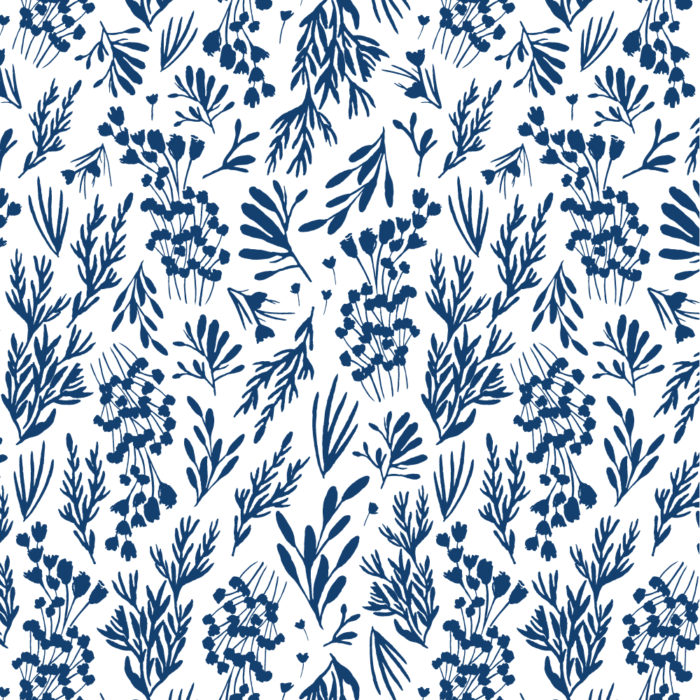 Blue Leaves •Surface Pattern ©Amanda Gomes • delightedco.com