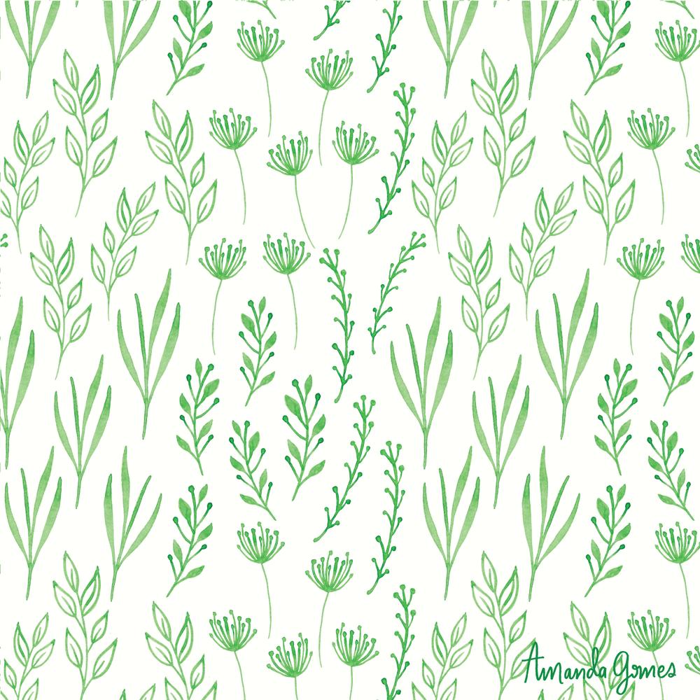 Greenery * Surface Pattern ©Amanda Gomes • delightedco.com