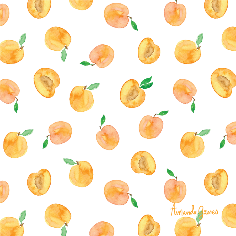 Apricot Illustration • Surface Pattern Design ©Amanda Gomes • delightedco.com
