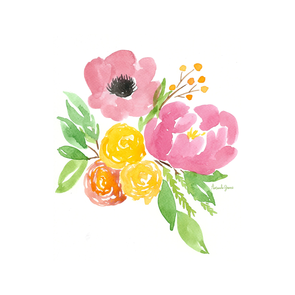 Floral Illustration • ©Amanda Gomes • delightedco.com