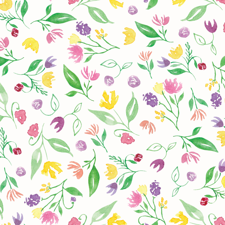 Happy Floral Pattern ©Amanda Gomes • Delighted Creative Co.